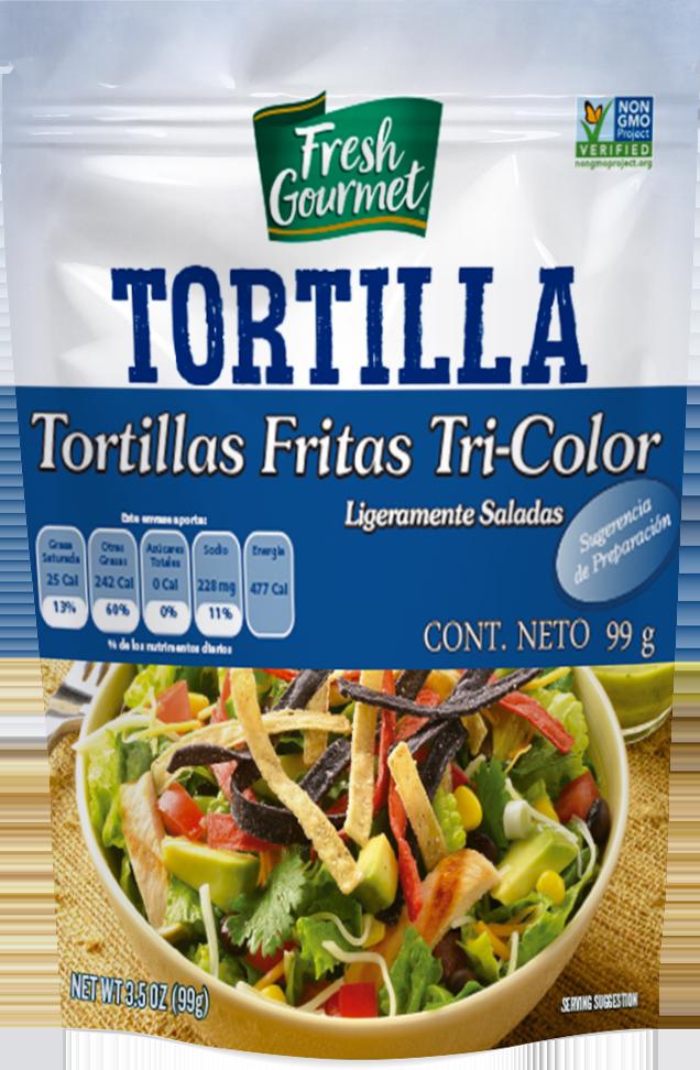 Tortillas fritas tricolor