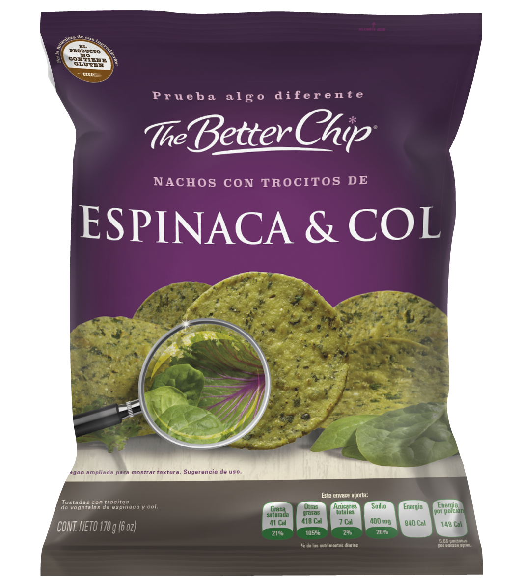 The Better Chip Espinaca