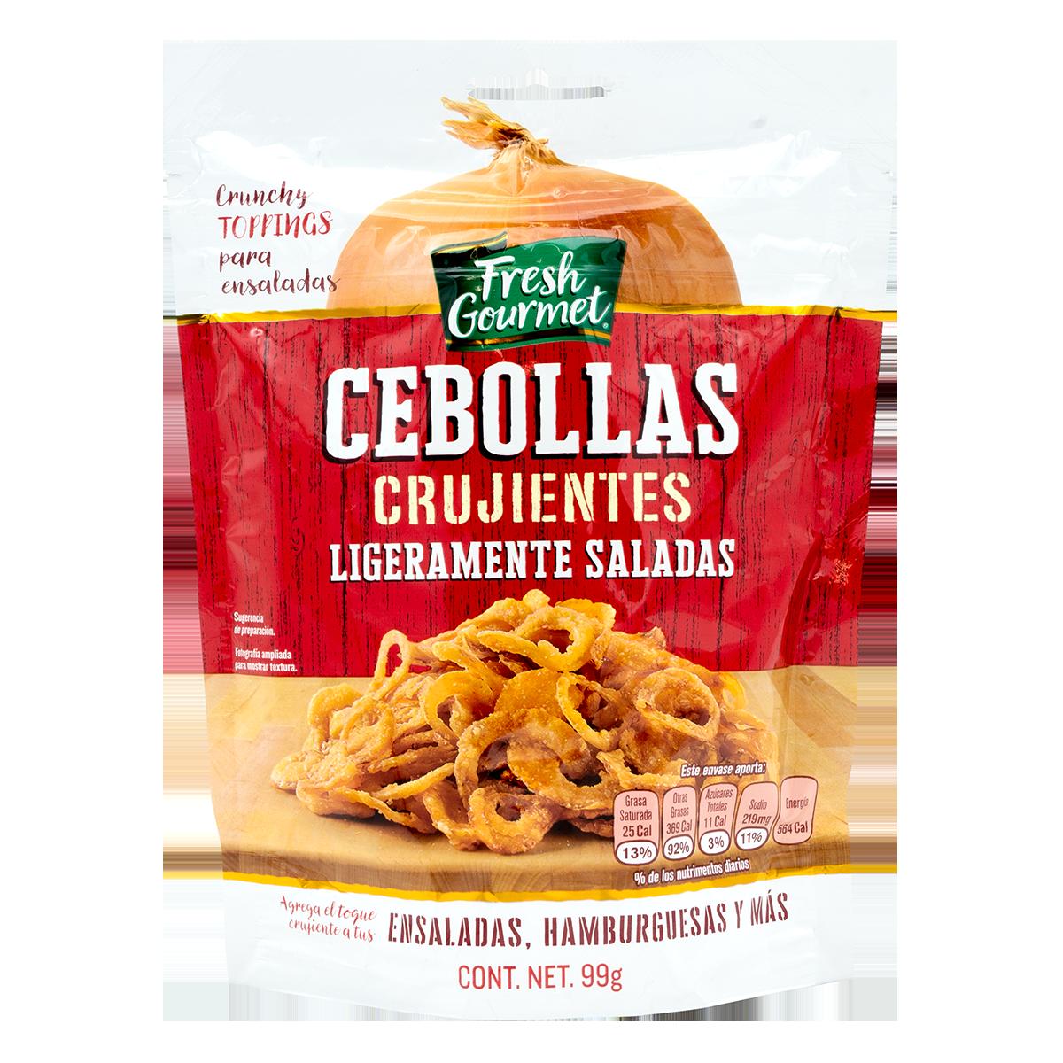 Fresh Gourmet - Cebollas Crujientes ligeramente saladas
