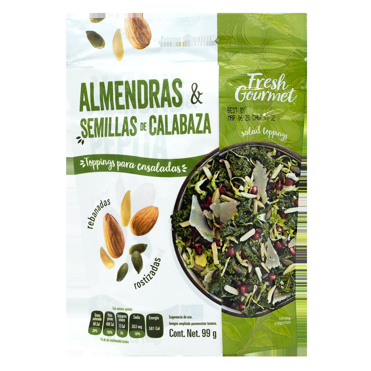 Fresh Gourmet - Almendras y semillas de calabaza