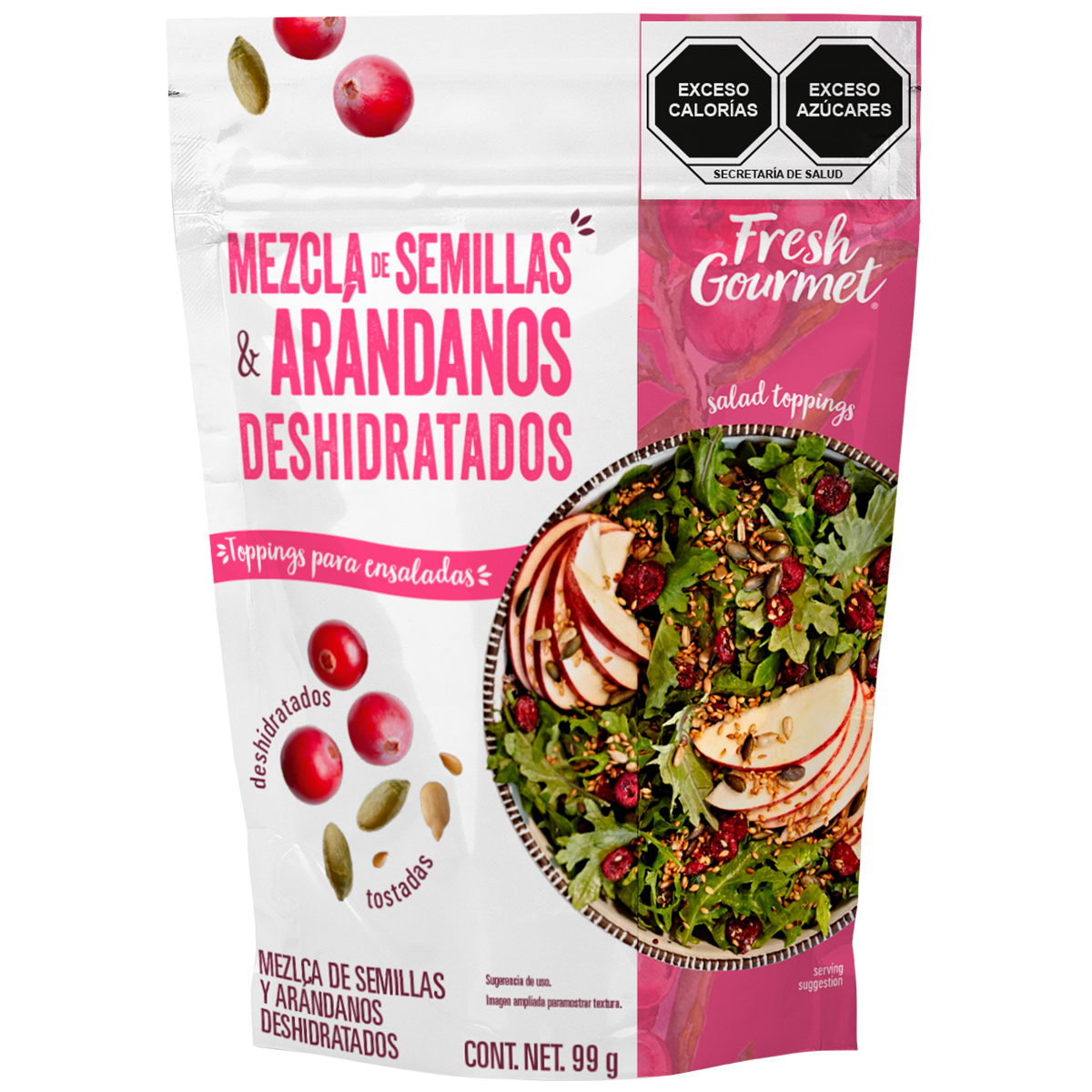 Fresh Gourmet - Mezcla de semillas y arándanos deshidratados