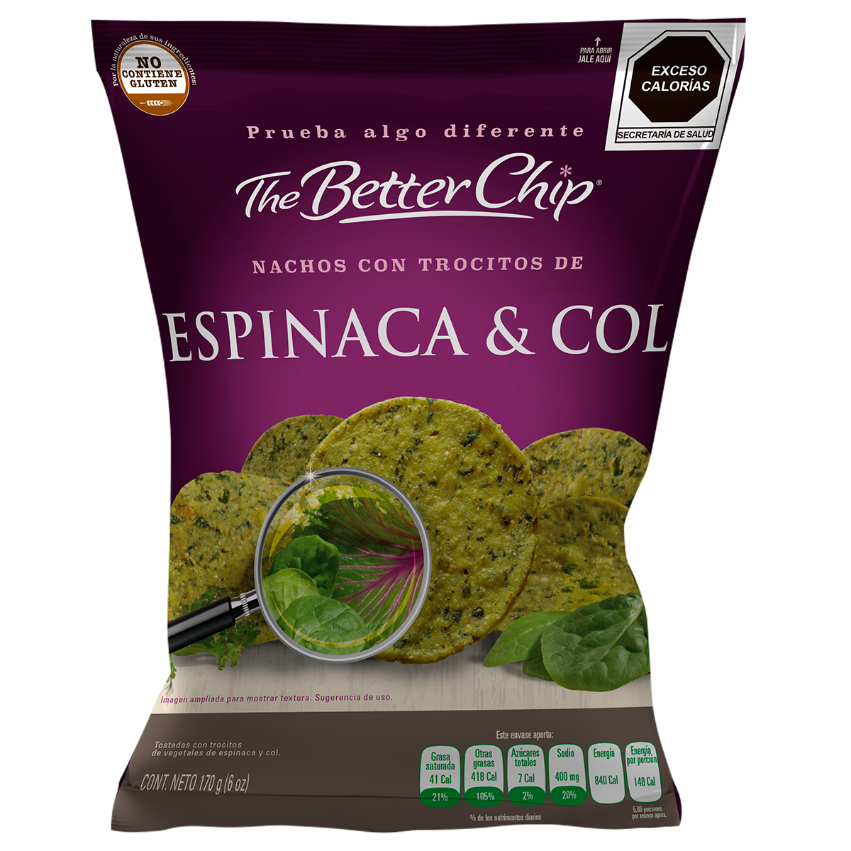 The Better Chip - Espinaca & Col - Hechos con Vegetales